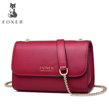 где купить FOXER Sexy Lady Small Flap Bags Female Chic Elegant Crossbody Bag for Women 2019 Leather Messenger Bags Simple Small Women Bag по лучшей цене