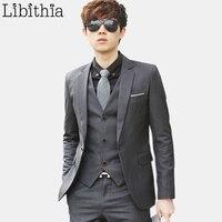 Jacket Pant Tie Luxury Men Wedding Suit Male Blazers Slim Fit Suits For Men Wool