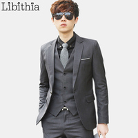 (Kurtka + Spodnie + Tie) luksusowe Mężczyzn Garnitur Mężczyzna Blazers Slim Fit Garnitury Ślubne Dla Mężczyzn Kostium Biznes Formalne Party Niebieski Klasycznej Czerni