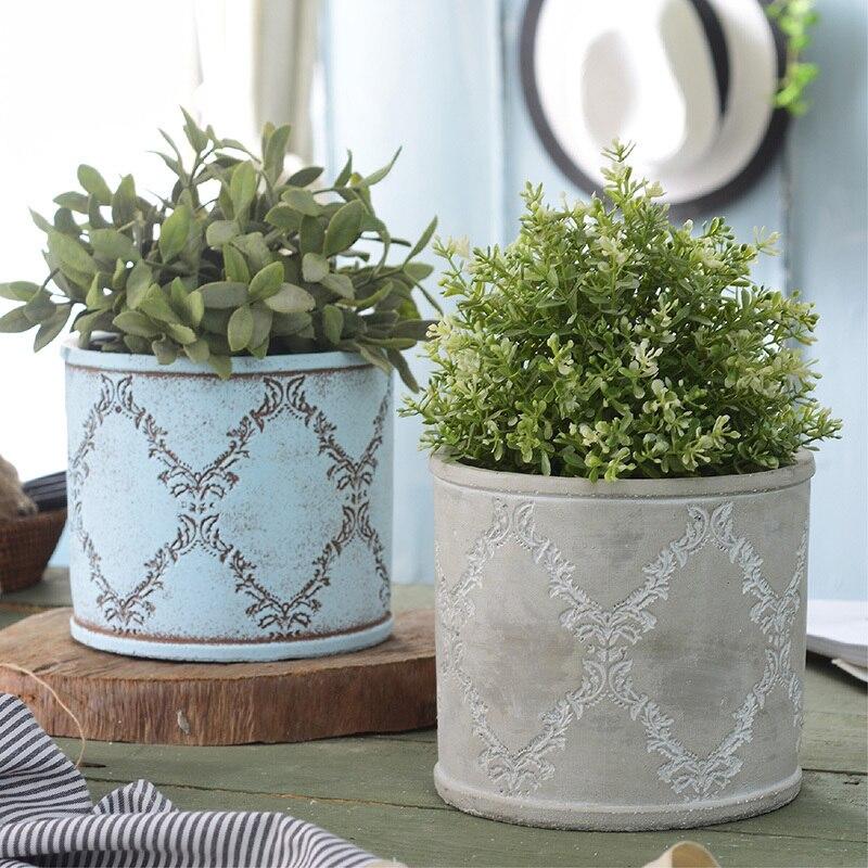 Rêve créatif original fait à la main en céramique ciment pot de fleur personnalité plantes vertes béton pot silicone moules