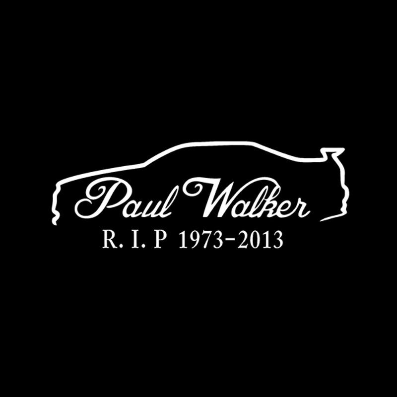 Paul walker skyline r34 memorial rip van mobil reflektif vinyl sticker decal grafis bumper jendela di mobil stiker dari mobil sepeda motor aliexpress com