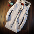 M-3XL Mens Mens Slim Gabardina Abrigo Largo Trench Coat Hombres Otoño Slim Fit Casual T371