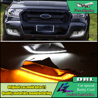 Car Styling Led Drl Daytime Running Light For Ford Ranger 2015 2016 With Dimmer Control Yellow