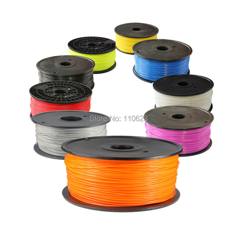 Full colors 3d printer filaments PLA 1.75mm Plastic Rubber Consumables Material MakerBot/RepRap/UP/Mendel 1KG double color m6 3d printer 2017 high quality dual extruder full metal printers 3d with free pla filaments 1set gift