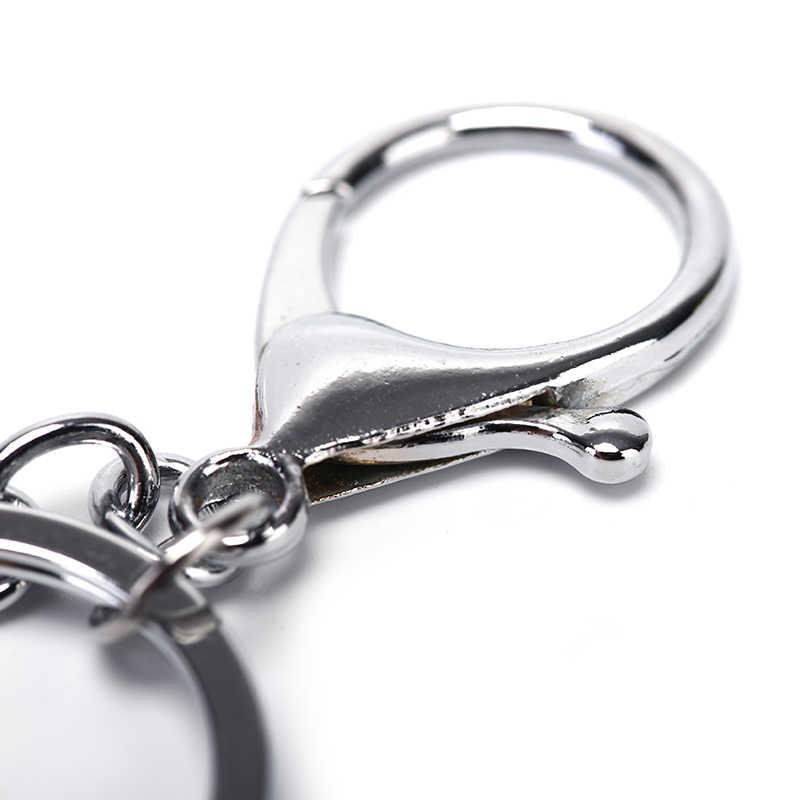 30/25mm 5/10 pçs/lote swivel lagosta fecho clipes chave ganchos de prata metal clássico chaveiro saco diy jóias chaveiro split anel