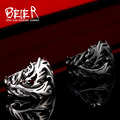 Beier new store Fashion Jewelry Stainless Steel Solid Inside Dragon Rings Men biker ring USA UK  Brazil  BR8-024