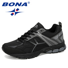 BONA 2019 New Designer Men Running Shoes Sports Air Cushion Sneakers M