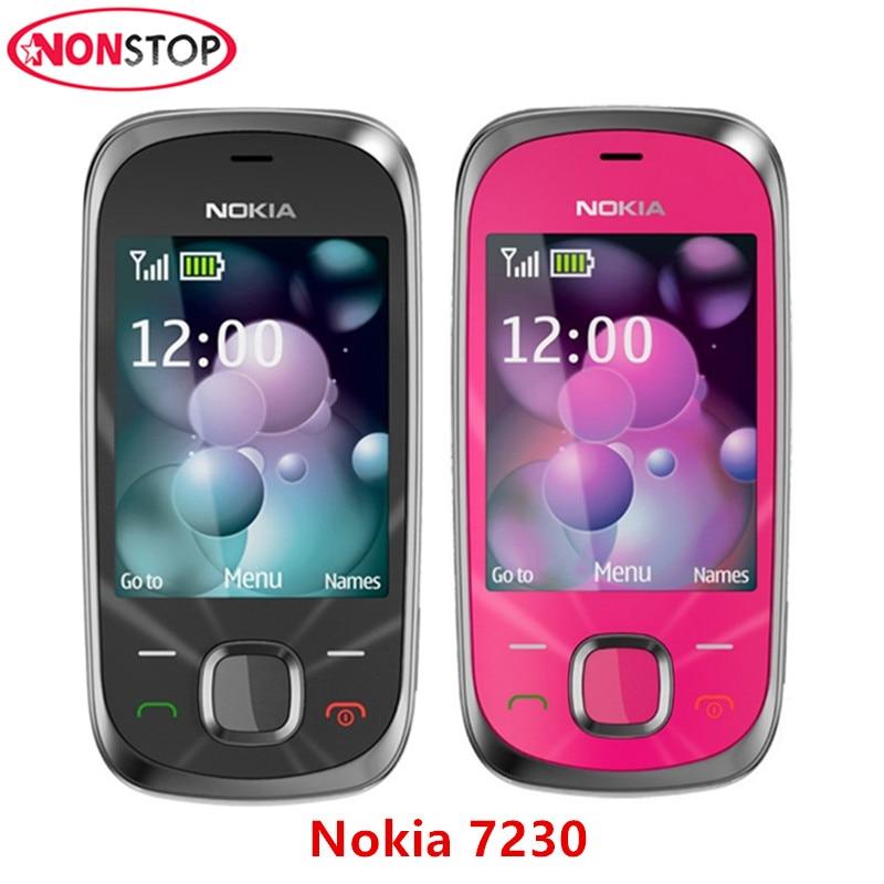 Unlocked 7230 Original Nokia 7230 Mobile Phone 3.2MP Camera Bluetooth FM JAVA MP3 Cheap Cell Phone Free Shipping