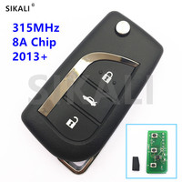 SIKALI Vehicle Car Remote Key for Toyota Camry Corolla RAV4 Reiz 315MHz 8A Chip TOY40 Blade for 12BER 01 or 12BER 02