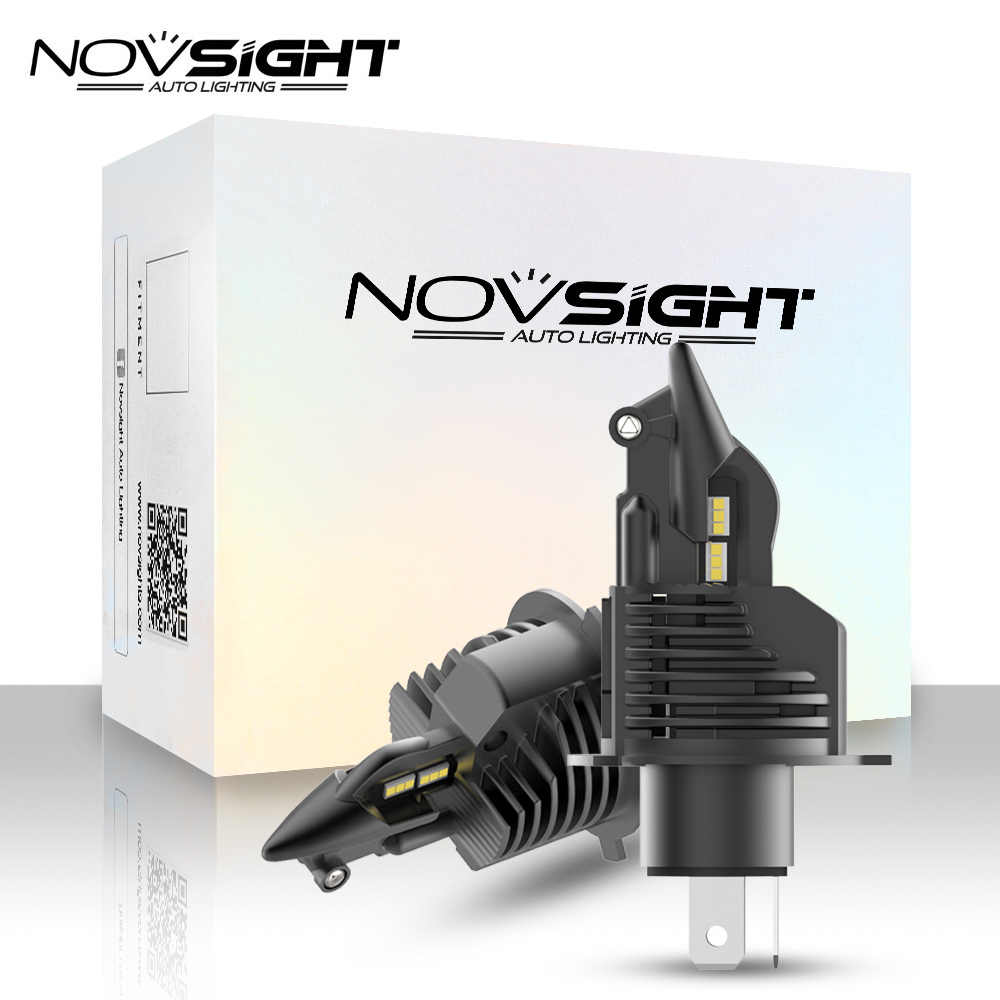 1:1 DESIGN NOVSIGHT Newest technology car headlight bulbs H4 LED H7 H11 H8 H9 HB3 9005 HB4 9006 50W 10000LM 6500K Fog Light