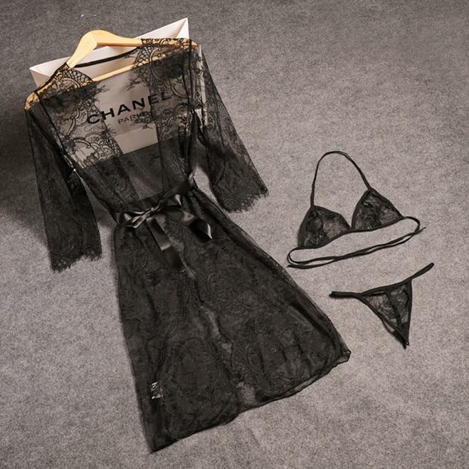 Womens Sleepwear Sexy Lasce Pajama Set Black Lace V-Neck Pyjamas Sleeveless Cute Cami Top and Shorts