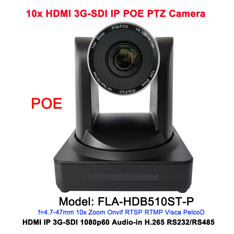 2MP HD 10x optical zoom HDMI IP Live Stream camera POE with 3G-SDI / RJ45 output video conferencing image