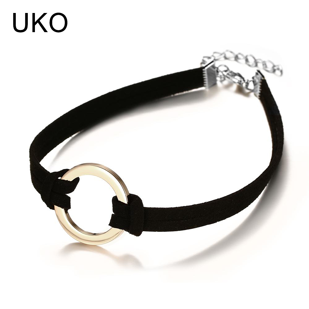 UKO Trendy Choker Necklaces & Pendants Rock Punk Black Choker Necklace for Women Clothing Accessories