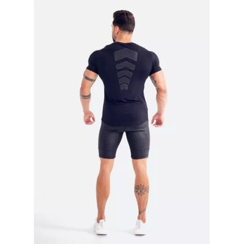2018 Summer New mens gyms T shirt Fitness Bodybuilding Fashion Male Short cotton clothing Brand Tee Tops 4
