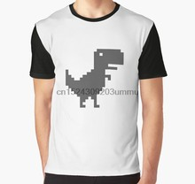 All Over Print 3D Homens Tshirt Camisa Engraçada de T Gráfico T-Shirt do Google Chrome T-Rex(China)