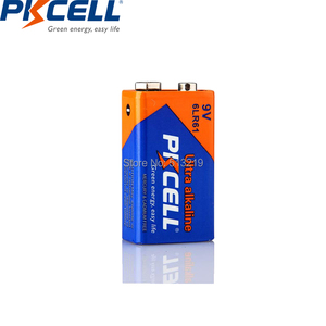 Image 5 - 15PCS PKCELL 9V thermometer Battery 6LF22 6LR61 PPP3 1604 Alkaline Battery Non Rechargeable 9 v Batteries for MP3 Remote control