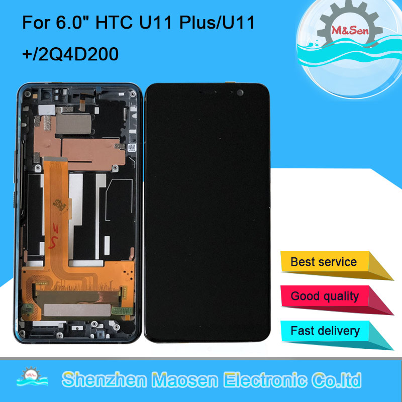 Original M Sen For 6 0 HTC U11 Plus U11 2Q4D200 LCD Display Screen Touch Panel