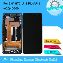 "6.0 ""Original M & Sen สำหรับ HTC U11 PLUS/U11 +/2Q4D200 หน้าจอ LCD + TOUCH แผง Digitizer สำหรับ HTC U11 PLUS กรอบ"