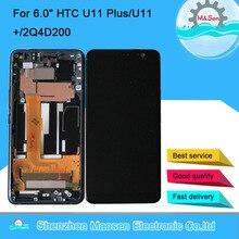 """6.0 """"Originele M & Sen Voor Htc U11 Plus/U11 +/2Q4D200 Lcd scherm + Touch panel Digitizer Screen Voor Htc U11 Plus Met Frame"""