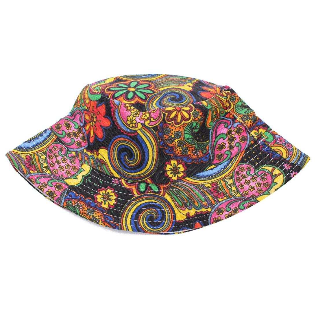 6edb3c37c41f97 Women Flower Bucket Hat Boonie Hunting Fishing Outdoor Cap Summer Sun Hat