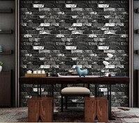 Beibehang Modern Brick 3d Stone Wallpaper Roll Green Brick Red Brick Wall Background Wallpaper For Living