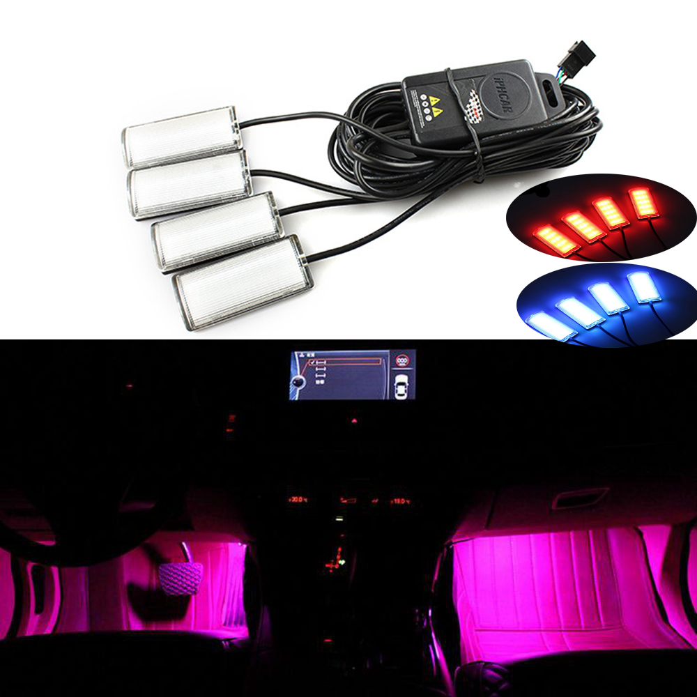 7 Color Car Atmosphere Lamps Car Styling Decorative Atmosphere Light Car Interior Lamps Led Ambient Footwell Lighting tak wai lee 1pcs usb led mini wireless car styling interior light kit car styling source decoration atmosphere lighting 5 colors