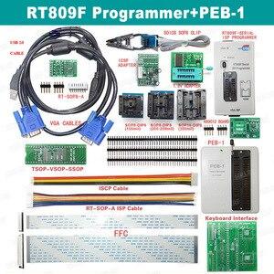 Image 5 - رائجة البيع RT809F شاشة الكريستال السائل ISP مبرمج مع SOP8 Peb لوحة تمديد EDID كابل 1.8 فولت محول وجميع محولات شحن مجاني