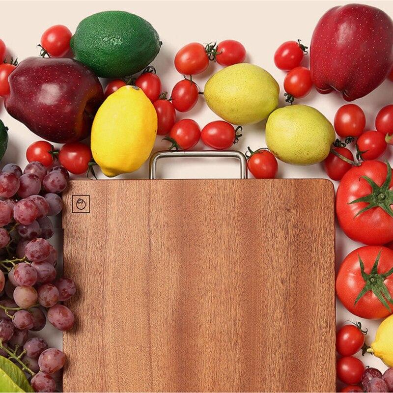 Youpin Huohou bloc à découper pour viande fruits légumes bar outils de cuisine bois d'ébène planche à découper épaisse S L