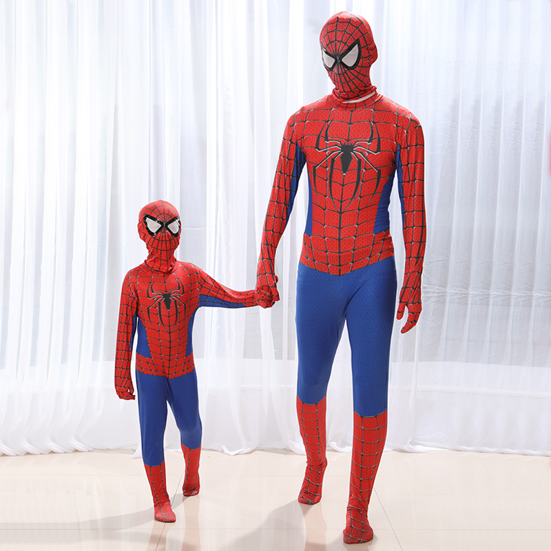 Child the amazing homecoming spiderman iron spider Spider-Man Kids Superhero Lycra Zentai Halloween Costume Christmas boys adult
