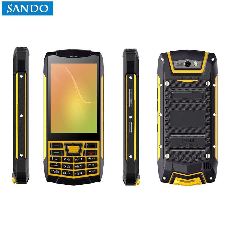 D'origine N2 PTT Android 6.0 Clavier WCDMA Talkie Walkie fonction téléphone IP68 Étanche smartphone GPS NFC Téléphone Quad Core