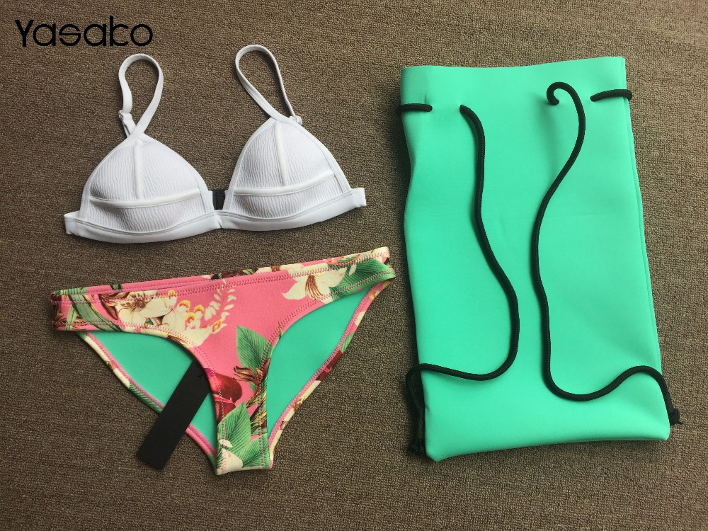 Бесплатная доставка женщин неопрена купальник неопрена бикини лето 2017