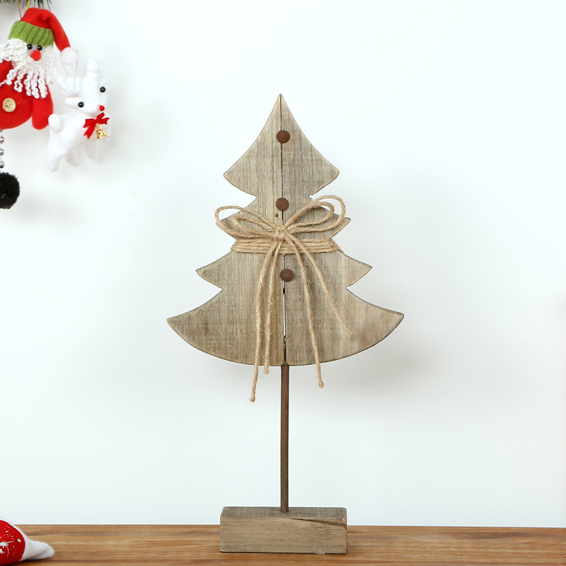 Vintage North Europe Handmade Solid Wood Crafts Wooden Christmas Tree For  Home Ornaments Xmas Gifts Decorative ...