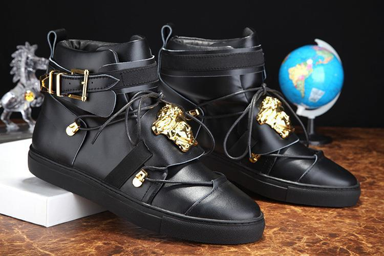 d2f7f492ba1 The new 2015 v Kanye West shoes brand leather leather shoes with flat boots  men s shoes