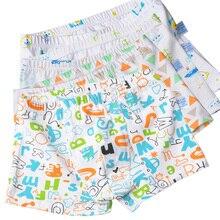 4pcs/Lot Cartoon Cool Car Letter Bear Boys Panties Briefs Soft Cotton Boxers Kids Underwear Shorts Children Boy Underpants