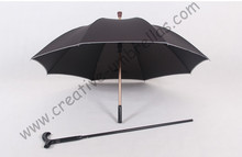 Detachable unbreakable self-defense climbing alloy brass parasol  fiberglass anti-skidding reflective crutch mans umbrellas