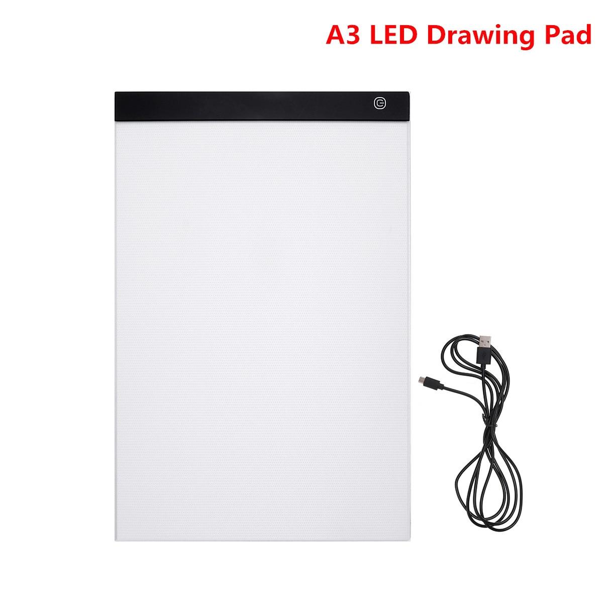 Tablet Dessin Pad A3 LED Dessin Pad Boîte Conseil Dessin Traçage traceur Copie Conseil Table Pad Led Lumière Pad Copie Conseil Pochoir