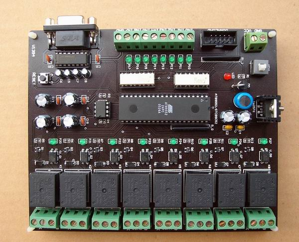 12 V /24V eight input / output single chip microcomputer control time relay module цены онлайн