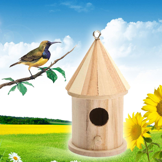 Wooden Hanging Bird Feeders