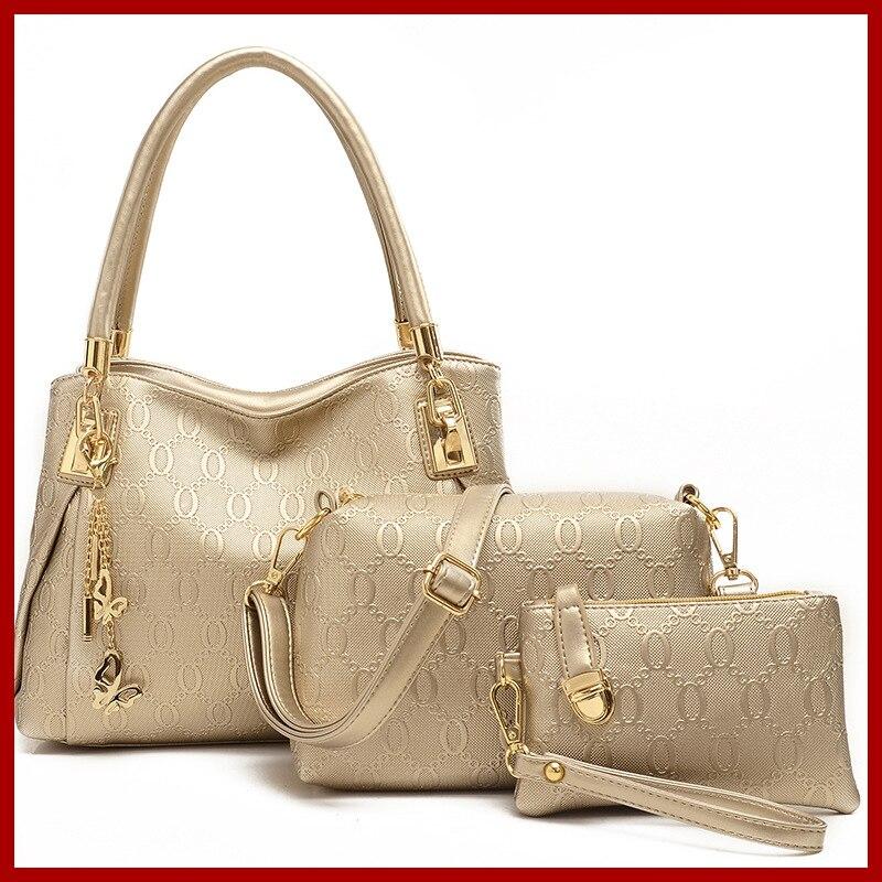 New 2018 Women Handbag Genuine Leather Women Messenger Bag Brand Designs  Tote Composite Bag Shoulder+ 1ec5dd175d963