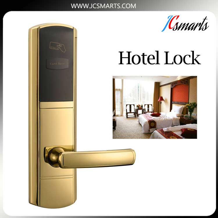 The most popular ANSI RFID hotel card lock; CE five-latch mortise hotel lock hotel lock system rfid t5577 hotel lock gold silver zinc alloy forging material sn ca 8037