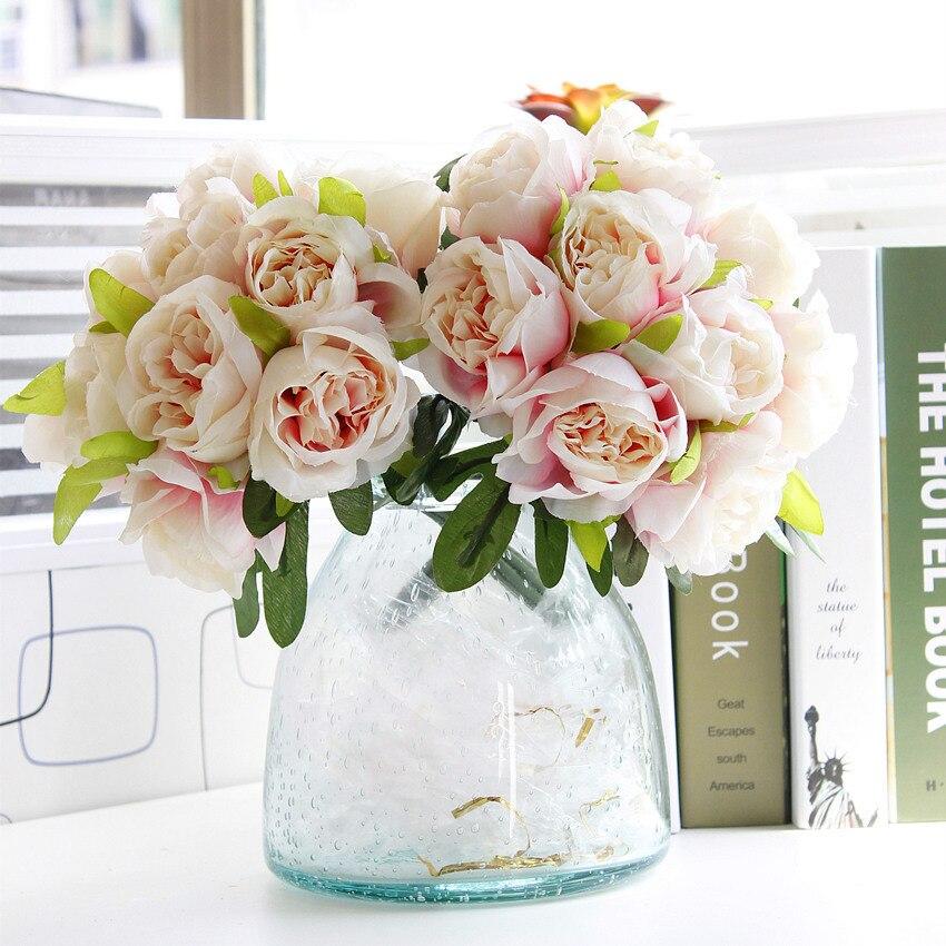 1 Bouquet DIY Жасанды гүлдер Роза Жібек - Мерекелік және кешкі заттар - фото 4