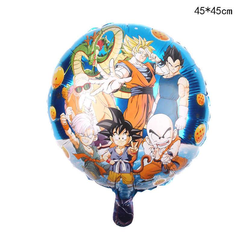 De dibujos animados sombrero 5 unids/set de dibujos animados 7 Goku Dragon Ball globo de la hoja de 32 pulgadas globo número conjunto de decoración para fiesta de feliz cumpleaños niños sombrero