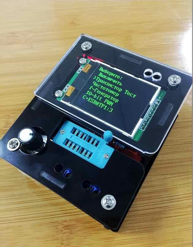 Rusia M328 Transistor Tester DIY LCR Dioda Kapasitansi ESR Tegangan Meter PWM Square Wave Sinyal Frekuensi Generator