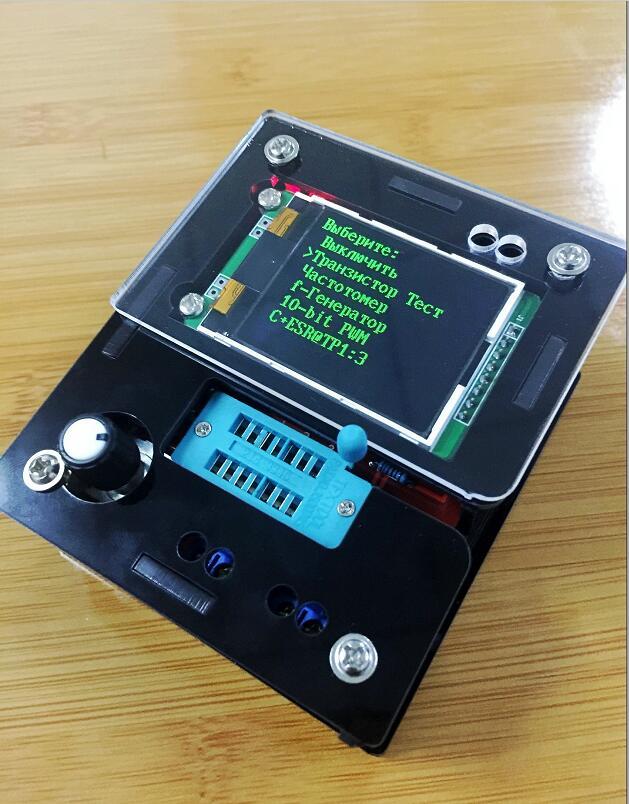 Russian M328 Transistor Tester DIY LCR Diode Capacitance ESR voltage meter PWM Square wave Frequency Signal Generator|generator meter|meter lcrcapacitance tester meter - AliExpress