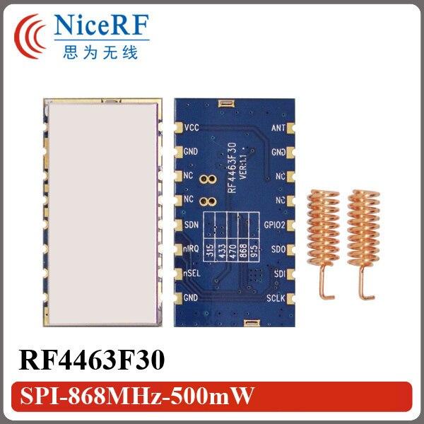 2 шт. RF4463F30 высокая чувствительность (-122 дбм) SI4463 FSK 868 МГц Беспроводной Модуль Приемопередатчика