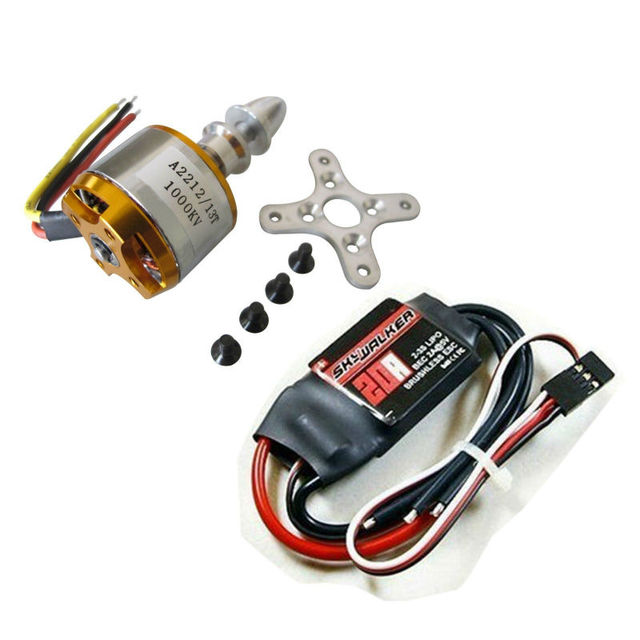 XXD A2212 1000KV Brushless Motor + Hobbywing Skywalker 20A ESC for Xcopter Multi   free shipping