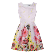 2018 Summer New Europe and The United States Printed Sleeveless Vest Dress A Word Princess Dress цены