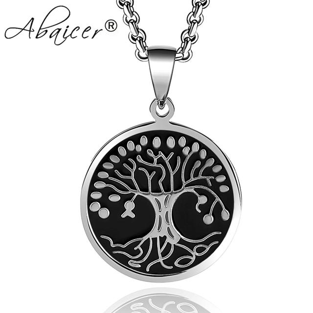 Abaicer Nordic Vikings Runes Amulett Keltischer Baum Des Lebens