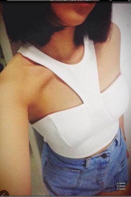 Envío Gratis 2016 Nueva Llegada Sexy Backless Blanco Blusas Vendaje Spandex