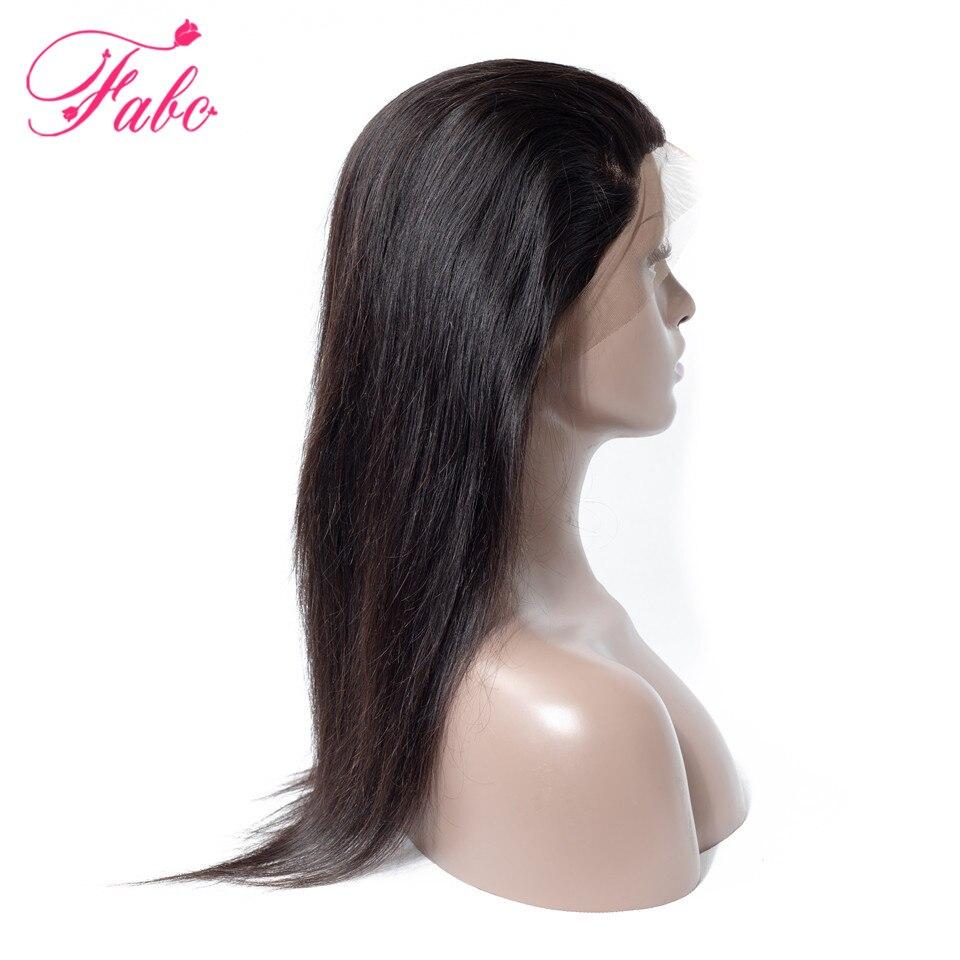 Cabelo Brasileiro reta 360 cabelo remy lace frontal 10 Fabc-20 polegadas 100% cabelo humano parte livre laço suíço fechamento natural preto